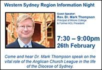 Western Sydney Region Information Night