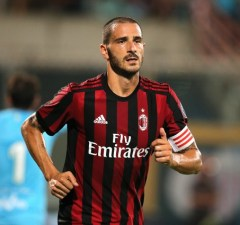 Leonardo Bonucci of Milan during the Pre-Season Friendly match between AC Milan and Villareal at Stadio Angelo Massimino on August 9, 2017 in Catania, Italy.  (Photo by Gabriele Maricchiolo/NurPhoto)