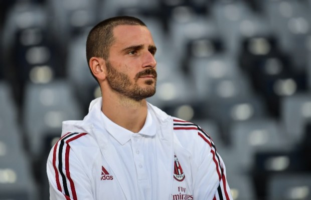 Leonardo Bonucci of AC Milan takes part in a training session for the Shenzhen match of the 2017 International Champions Cup China against FC Bayern Munich in Shenzhen city, south China's Guangdong province, 21 July 2017.
