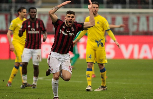 Patrick Cutrone during Serie A match between Milan v Chievo Verona, in Milan, on March 18, 2018 (Photo by Loris Roselli/NurPhoto).