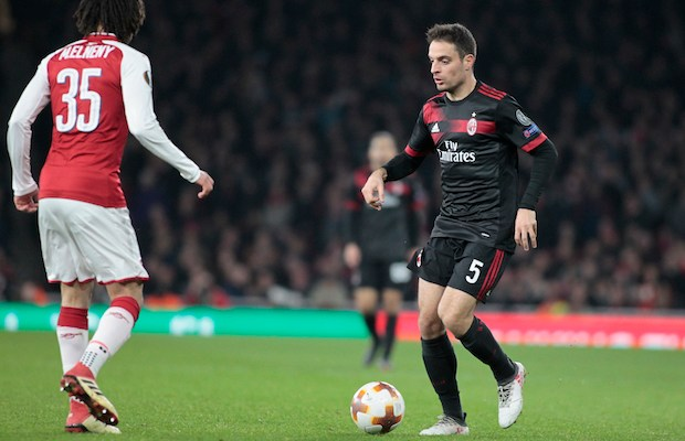 Giacomo Bonaventura during the UEFA Europa League Round of 16 2nd leg match between Arsenal and AC MIian at Emirates Stadium on March 15, 2018. (Photo by Loris Roselli/NurPhoto)