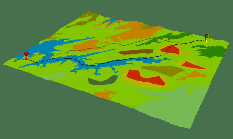 Encontrar la mejor ruta entre dos puntos en ArcGIS