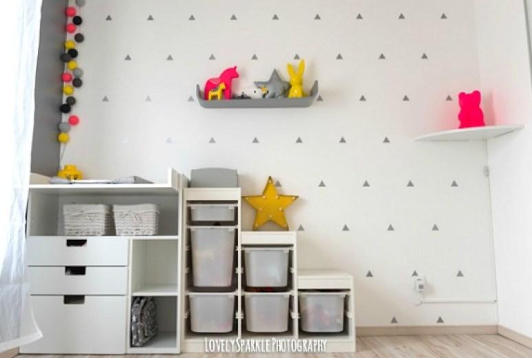 decoração moderna de quarto de bebê