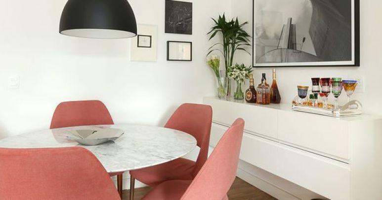 sala de jantar rosa