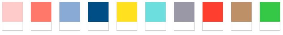 Paleta de cores pantone para 2016