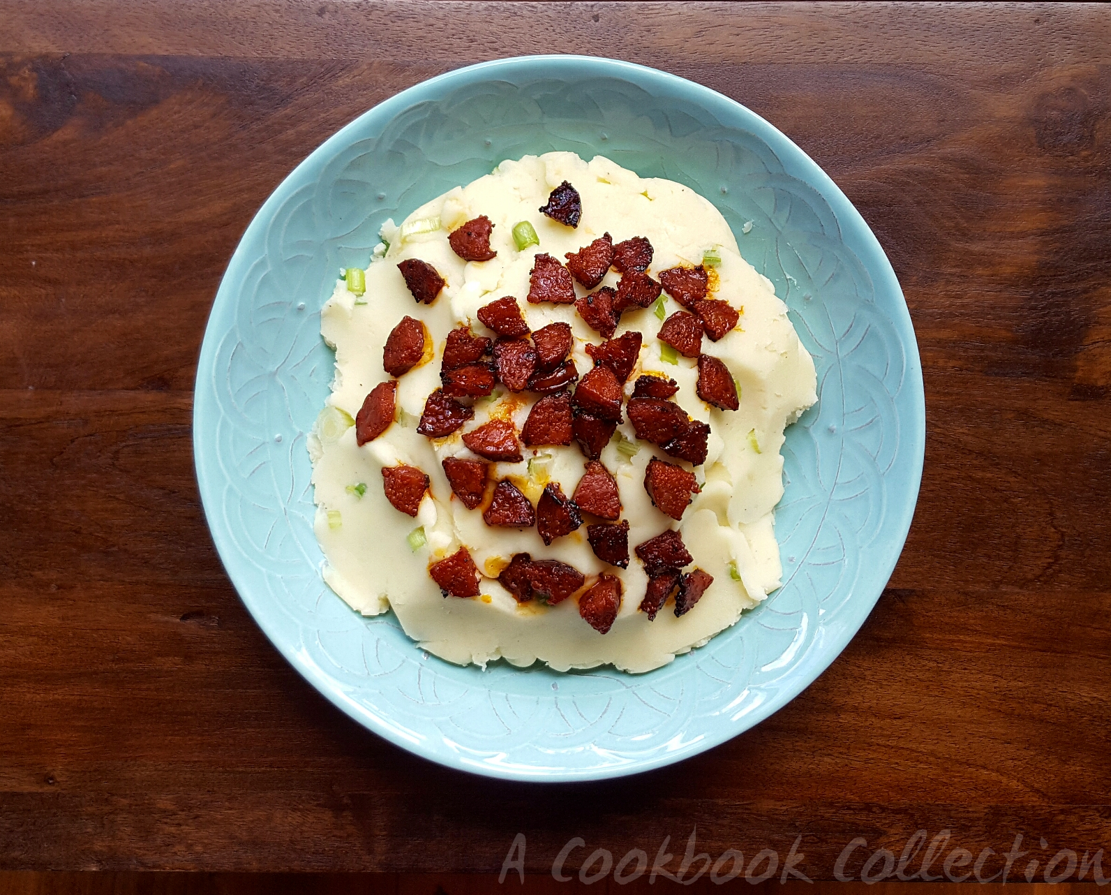 Creamy Mashed Potato and Chorizo Salad- A Cookbook Collection