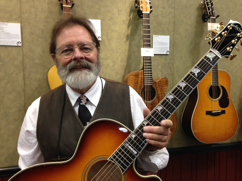 Richard Hoover with the Santa Cruz 40th Anniversary F model (front)