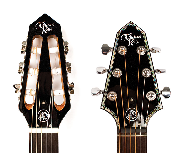 Nylon-string N6 (left) and steel-string S6