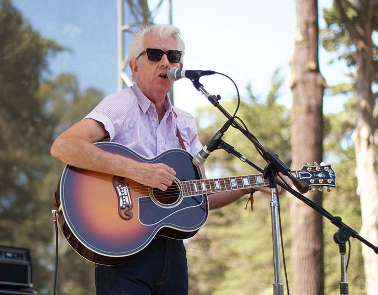 Nick Lowe performs at Hardly Strictly Bluegrass 2015 (photo by Hugh O'Connor)