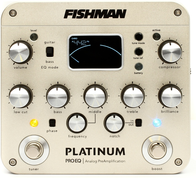 The Fishman Platinum Pro EQ Analog Preamp