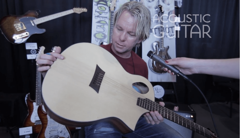 Summer Namm 2016 Michael Kelly Guitars Opts For An Offset Soundhole