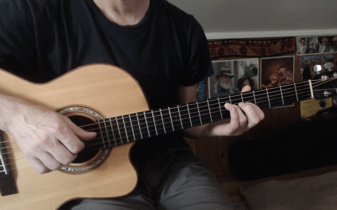 Video Lesson Exploring Dropped D Fingerpicking Acoustic Guitar