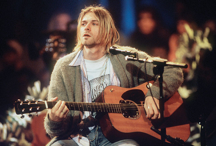 Kurt Cobain performing for MTV Unplugged