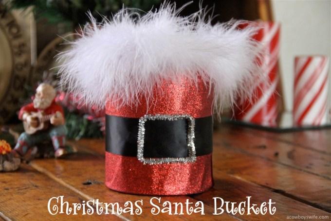 Christmas Santa Bucket