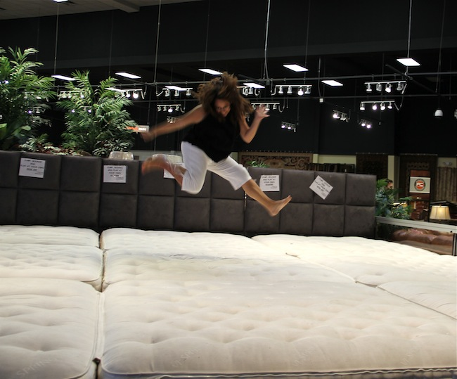 Jumping at Gallery Furniture