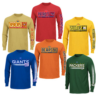 nfl team tees