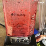 blending blueberries and cherries