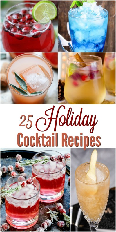 25 Holiday Cocktail Recipes - A Crafty Spoonful
