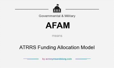AFAM - ATRRS Funding Allocation Model in Government & Military by AcronymsAndSlang.com