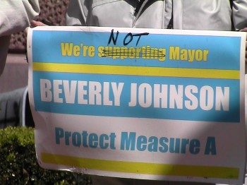 We're Not Supporting Mayor Beverly Johnson