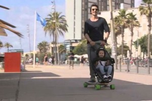 Check out World's First Longboard Stroller