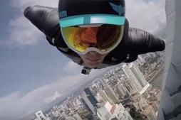 Urban Wingsuit Flying by Skyscrapers