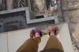 Watch Daredevil Ride Hoverboard on Edge Of Skyscraper