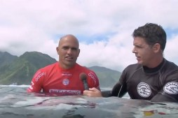 Kelly's Emotional Post-Win Interview in Tahiti