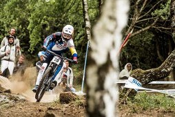 Marcelo Gutiérrez Charges Slippery Trail in Lourdes | UCI Mountain Bike World Cup 2017