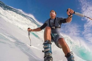 Watch Chuck Patterson Ski Giant Wave at Jaws