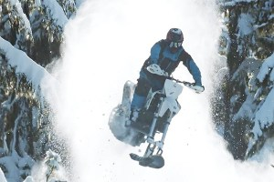What to do when there is snow on your MTB trails.