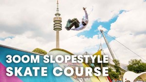 The first ever slopestyle skate course. | Red Bull Roller Coaster 2018 in Munich, Germany