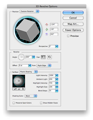 Illustrator 3D Revolve