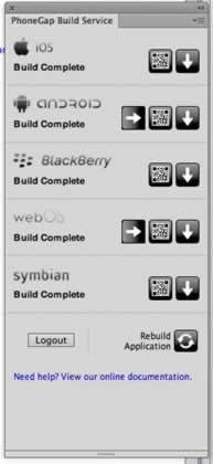 Estatus de PhoneGap Build