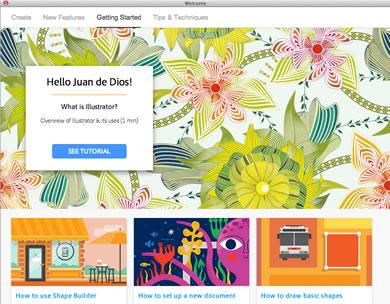 Novedades de Illustrator CC 2014 - Welcome Screen