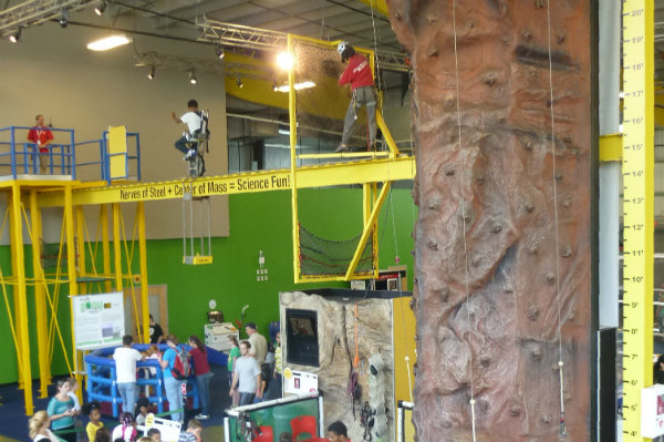kids and adults enjoy hands on exhibits at the highmark sportsworks in pittsburgh pennsylvania