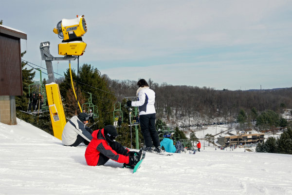 skiing and snowboarding is enjoyed at boyce park near pittsburgh pennsylvania