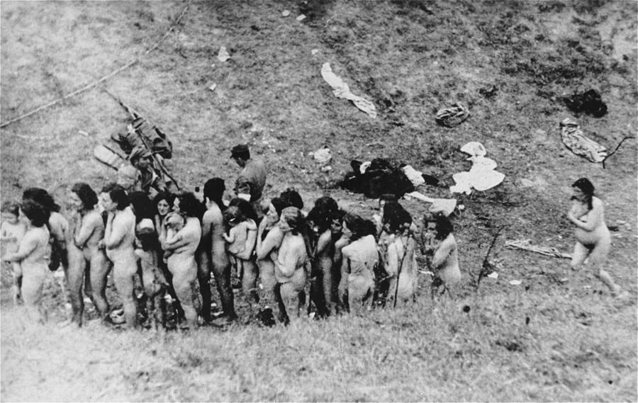 woman paraded naked executed before