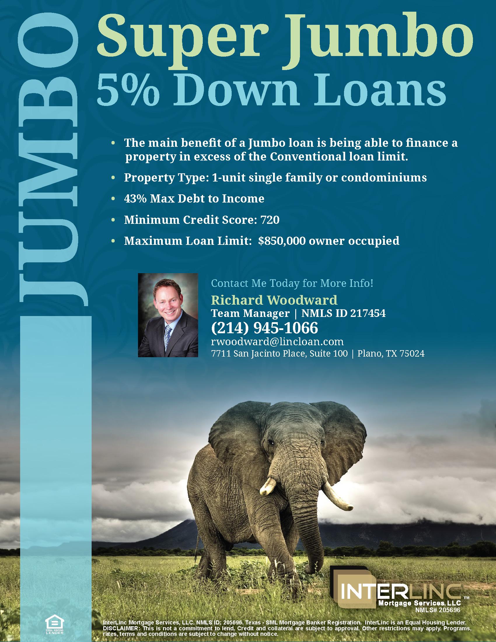 5% Down Jumbo Mortgage For Texas Home Buyers