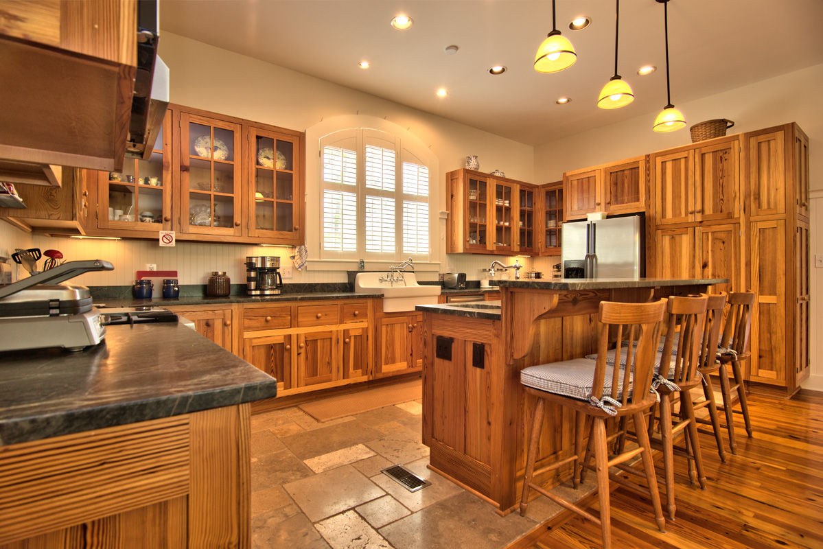 aged heart pine reclaimed doors english country home on 12 acres pine kitchen cabinets Cold Springs kitchen cabinets