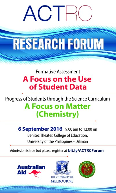 Register for the ACTRC Research Forum   Assessment, Curriculum and Technology Research Centre