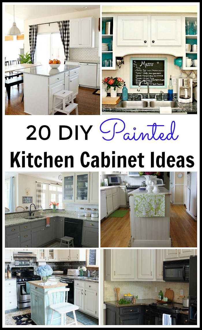20 diy painted kitchen cabinet ideas building a kitchen cabinet Lots of great DIY Painted Kitchen Cabinet tutorials Everything you want to know about how