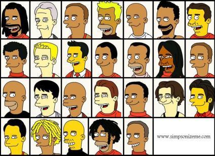 Arsenal SquadSimpsonized