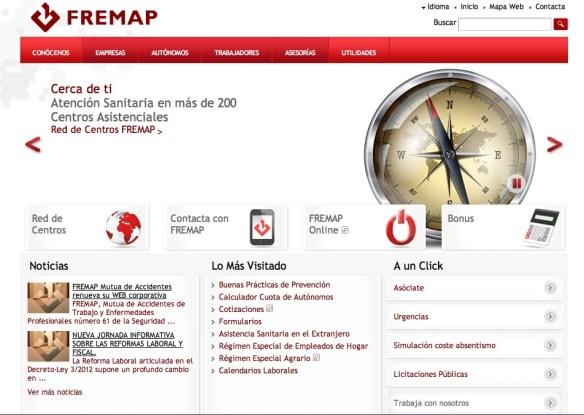 Nueva web de FREMAP