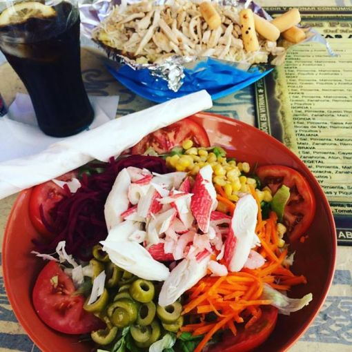 THE best salad in Malaga.