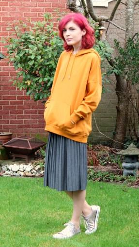 mustard hoodie from monki
