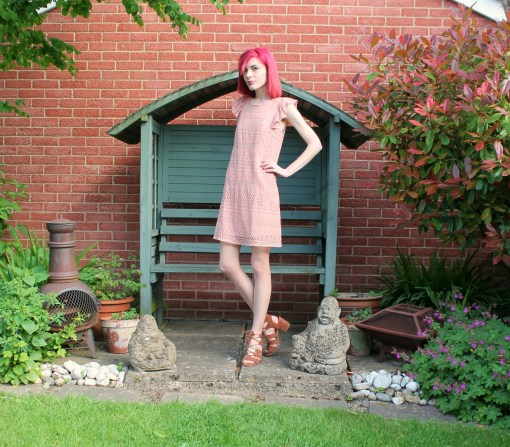 pink crochet dress from primark
