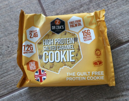 dr zaks protein cookie salted caramel