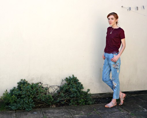 embroidered jeans from wearall