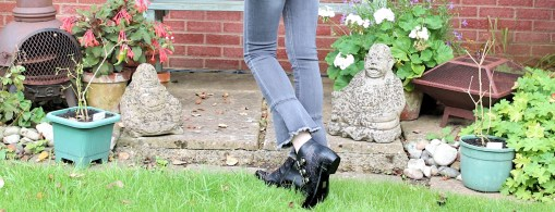 jeans and studded boots